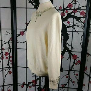 St. John Sweaters - Vintage St John  Rhinestone Studded Sweater